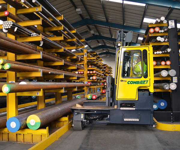 Combilift – Combi C-Series – Multi-directional Forklift – Long Load Handling - Speciality Metals - Guided Aisle