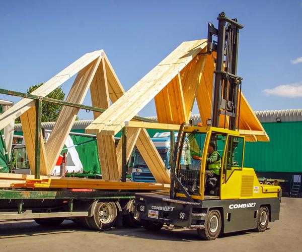 Combilift – COMBI-4WSL - 4 wheel side loader- Timber Lumber - Trusses